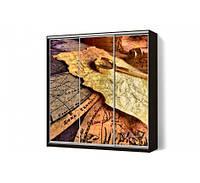 Шкаф-купе MatroLuxe Классик трехдверный с рисунком Фотопечать