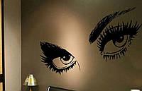 Виниловая наклейка для декора на стену Глаза  90*25см