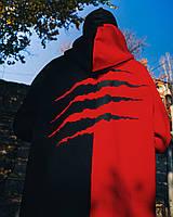 Худи унисекс Пушка Огонь Scratch черно-красное, фото 1