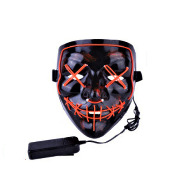 """Светящаяся неоновая LED маска """"Судная ночь""""   Светящаяся маска   Красная"""