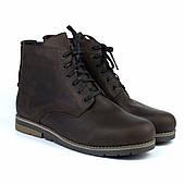 Зимние коричневые ботинки больших размеров кожаные на меху Rosso Avangard Falconi Crazy Street Brown BS