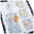 """Подарочный набор графин с рюмками в кожаном футляре """"Украина"""", фото 3"""