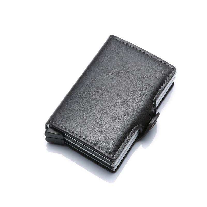 Картхолдер Кредитница Мужской с Зажимом для Денег Металлический Черный на 16 Карт Защита от Считывания (X-15)