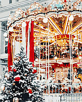 """Картина по номерам """"Рождественская карусель"""" 40*50см, фото 1"""