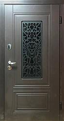 """Вхідні двері для вулиці """"Портала"""" (ЛЮКС RAL зі склопакетом + Vinorit) ― модель S-Lev (Лев)"""