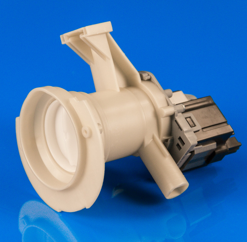 Насос Whirlpool 480110100001 с корпусом и микрофишкой
