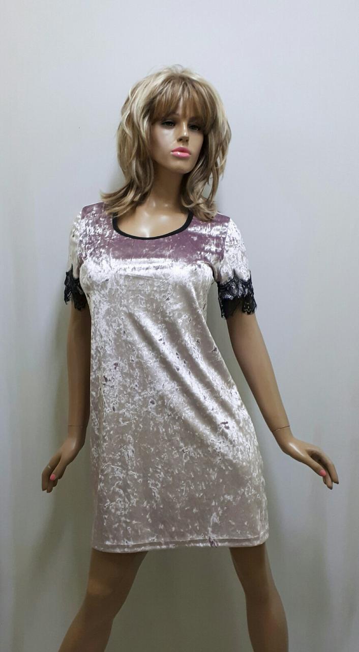 Велюровая ночная рубашка 148, фото 1