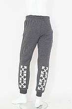 Подростковые спортивные штаны на флисе для девочки Off White р.13-16 лет трехниика