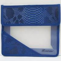 Папка A5 на липучке ткан. PA5-3996 Snake blue уп12