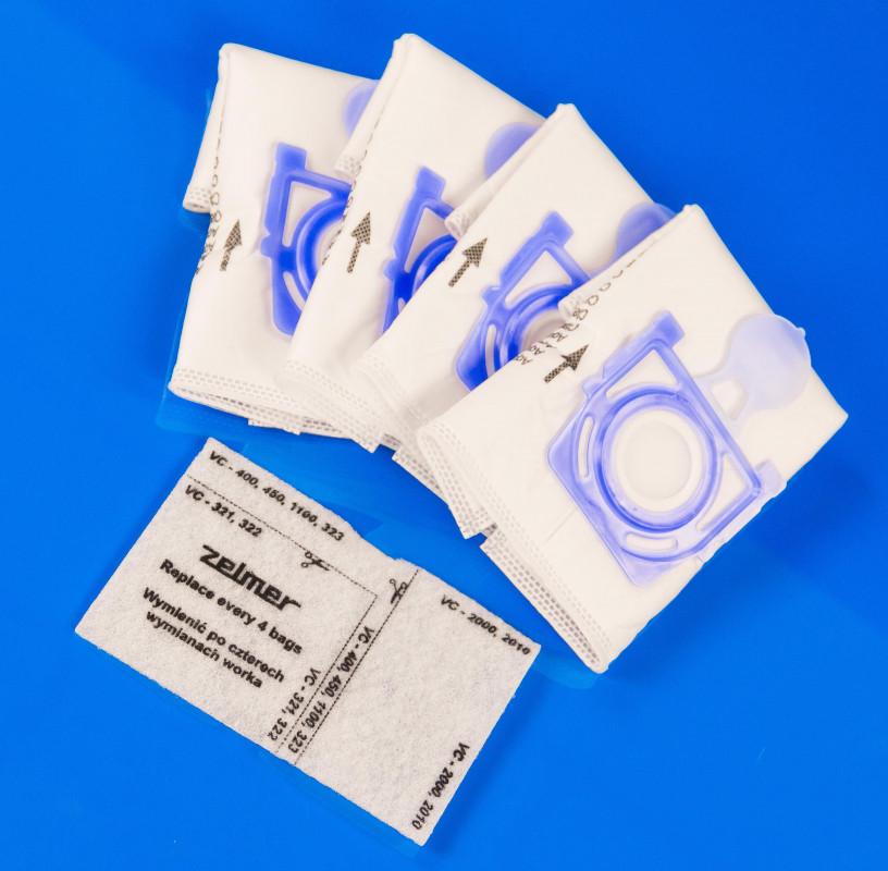 Мешок для мусора в пылесос Zelmer код: 49.4000 (4 шт. в комплекте)