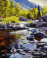 """Картина за номерами """"Річка в горах"""" 40*50см"""