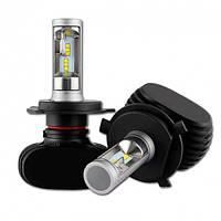 Автолампы Head Light светодиодные LED лампы головного света в машину для авто цоколь H4 белый свет 6000K 4000 LM (Н4-ART-S1)