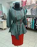 Блуза женская туника из тонкого полированного хлопка, дизайнерская модель, 50,52,54,56 , бл 035-4, фото 2