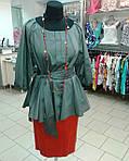 Блуза женская туника из тонкого полированного хлопка, дизайнерская модель, 50,52,54,56 , бл 035-4, фото 3
