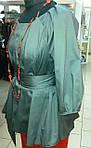 Блуза женская туника из тонкого полированного хлопка, дизайнерская модель, 50,52,54,56 , бл 035-4, фото 4