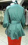 Блуза женская туника из тонкого полированного хлопка, дизайнерская модель, 50,52,54,56 , бл 035-4, фото 5