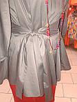 Блуза женская туника из тонкого полированного хлопка, дизайнерская модель, 50,52,54,56 , бл 035-4, фото 7