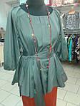 Блуза женская туника из тонкого полированного хлопка, дизайнерская модель, 50,52,54,56 , бл 035-4, фото 8