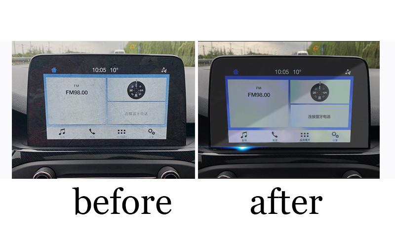Защитное стекло для экрана мультимедиа (монитор,панель приборов) Ford  focus Kuga,Edge,Mondeo, Mustang,fusion