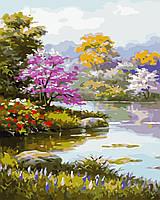 """Картина за номерами """"Квітучий садх"""" 40*50см"""