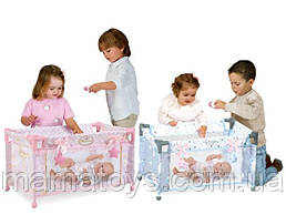Детский игровой манеж кроватка для кукол и пупсов типа Беби борн  50028 - 50029 DeCuevas