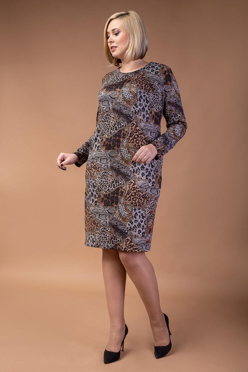 Платье с леопардовым принтом с 52 до 56 р
