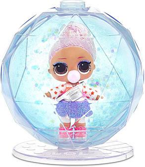 Кукла ЛОЛ Зимнее диско Блестящий шар Оригинал L.O.L. Surprise! Glitter Globe Winter Disco, фото 2