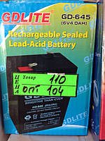 Аккумулятор GDLITE GD-645 6V 4.0Ah для весов