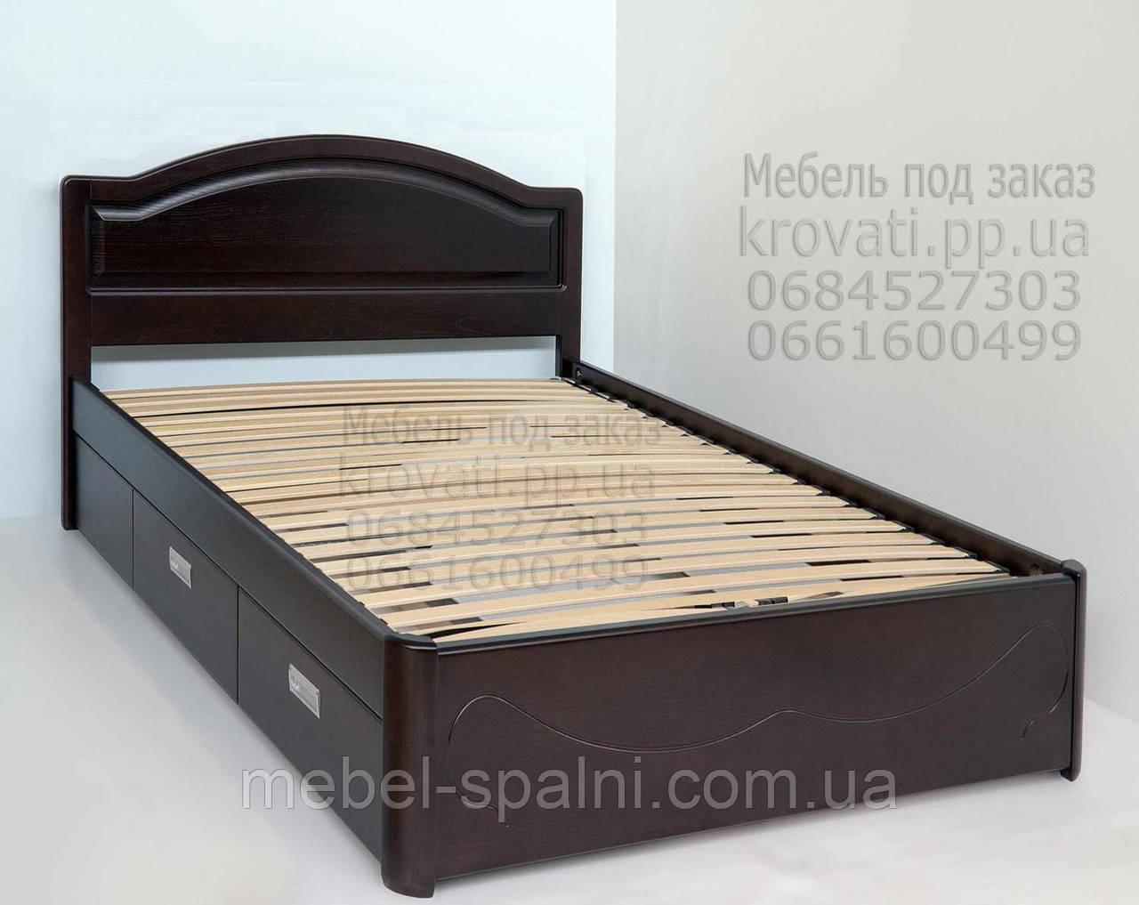 """Кровать c ящиками односпальная деревянная """"Анжела"""" kr.ag4.1"""
