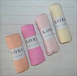 Трикотажная простынь на резинке в кроватку размер спального места 60*120 см Голубой цвет бренд KAYRA, фото 3