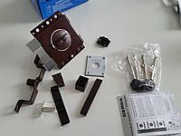 Замок накладной Gerda Tytan ZX GT8 коричневый длинные ключи (Польша), фото 1