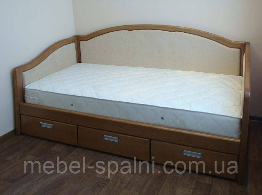 """Кровать c ящиками полуторная деревянная диван-кровать""""Лорд"""" dn-kr5.3"""