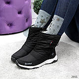 Дутики черные зима с густым мехом, фото 10