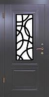 """Входная дверь для улицы """"Портала"""" (ЛЮКС RAL со стеклопакетом + Vinorit) ― модель S-7, фото 1"""