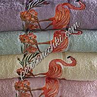 Махровое лицевое полотенце Фламинго, фото 1