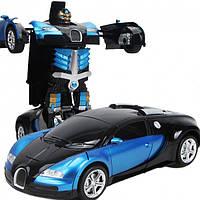 Автомобиль робот-трансформер автобот MZ AUTOBOTS Bugatti Veyron 2331X на пульте управления Синий