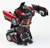 Автомобиль робот-трансформер автобот MZ AUTOBOTS Bugatti Veyron 2331X на пульте управления Красный