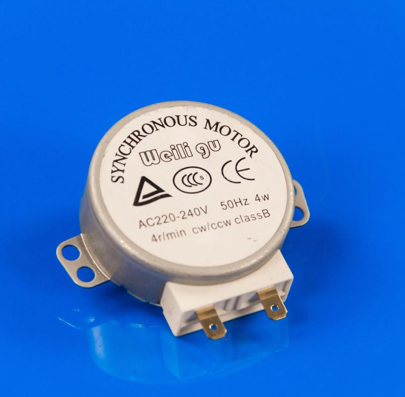 Моторчик тарелки для микроволновки 220V 4rpm пласт. вал 11мм