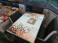 Обеденная группа МДФ 60х90 СВ-099 стекло пиксель коричн. (Лотос-М)