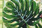 Набор-миди для вышивки бисером Монстера (20 х 20 см) Абрис Арт AMB-028, фото 5