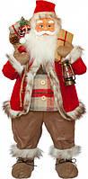 Фигурка декоративная новогодняя Time Eco Санта Клаус 81 см Черный