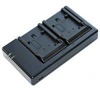Зарядное Alitek USB для 2-х аккумуляторов Panasonic VW-VBT380 / VBT190, VW-VBK360 / VBK180 / VBL090 / VBY100, фото 1