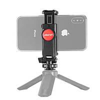 Держатель для смартфона / телефона с башмаком для установки на камеру, трипод, свет Ulanzi ST-06 (62067)