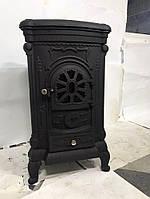 Камин печь буржуйка чугунная Bonro . Чвет черный.