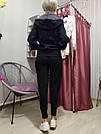 Спортивная Кофта Victoria's Secret PINK Premium College Full-Zip Full-Zip XS, Черная, фото 5