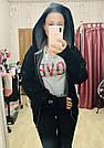 Спортивная Кофта Victoria's Secret PINK Premium College Full-Zip Full-Zip XS, Черная, фото 2
