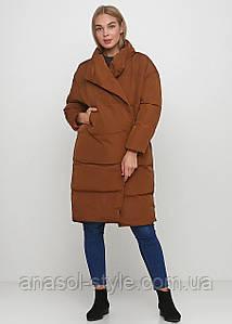 Куртка пуховик  зимняя женская цвет коричневый