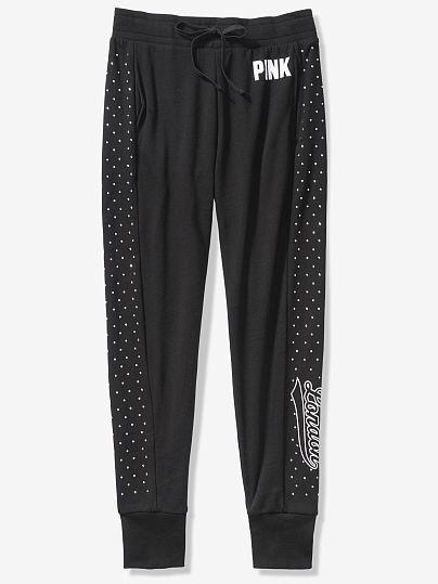 Спортивные Штаны Victoria's Secret PINK Bling S, Черный