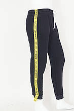 Подростковые спортивные штаны на флисе для мальчика  Off White р. 13-16  лет трехнитка