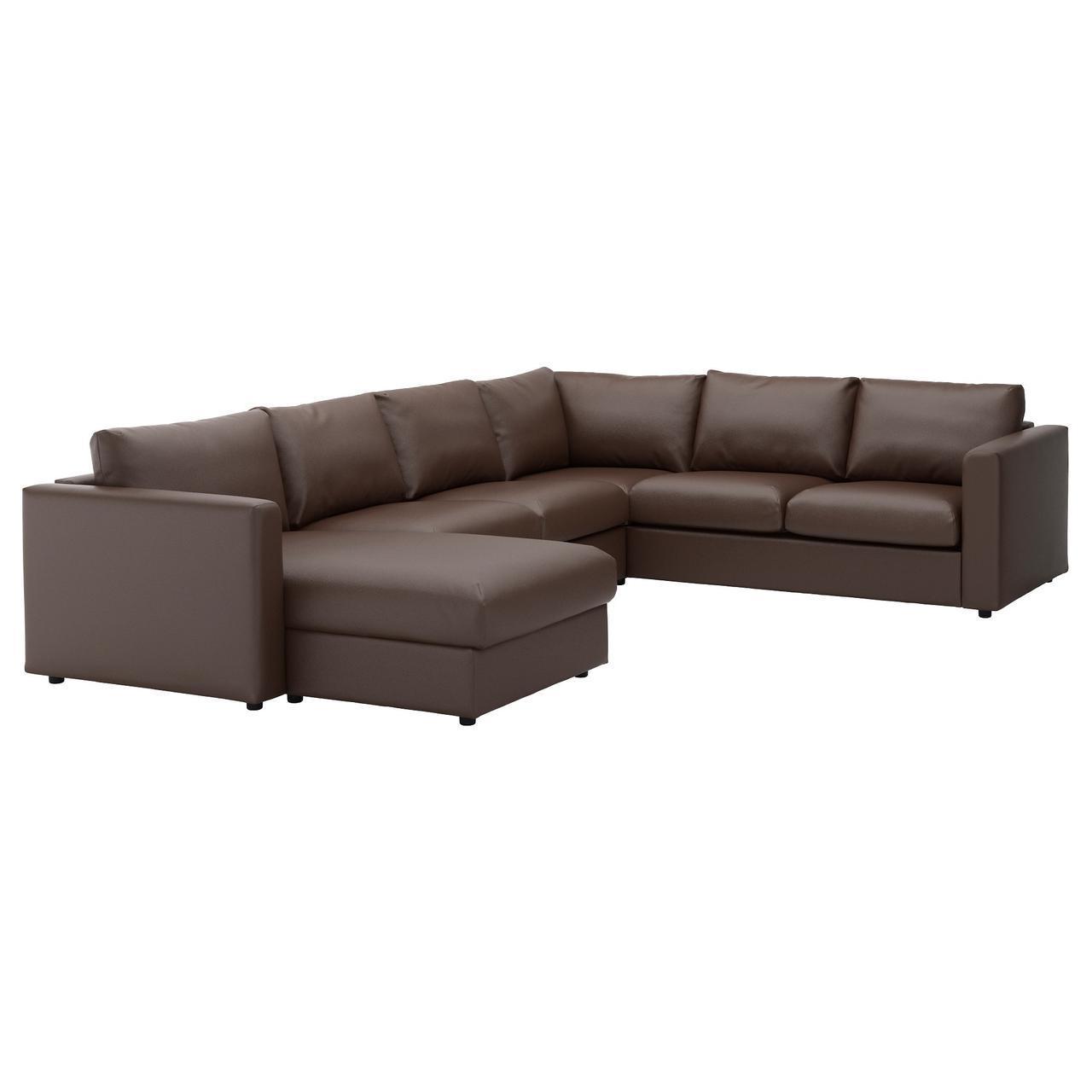✅ IKEA VIMLE (792.114.10) Угловой диван, 5-местный, с шезлонгом, Farsta темно-синий